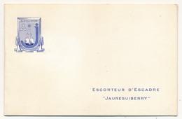 """Carte De Voeux 1958 - Escorteur D'Escadre """"Jaureguiberry"""" - Petite Photo Du Bâtiment à L'intérieur - Boats"""