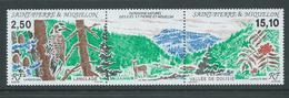 St Pierre & Miquelon 1992 Natural Heritage Ile Langlade Strip Of 2 + Label MNH - St.Pierre & Miquelon
