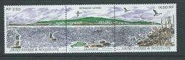 St Pierre & Miquelon 1991 Natural Heritage Point Savoyard Strip Of 2 + Label MNH - Unused Stamps