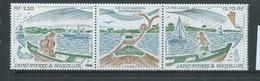 St Pierre & Miquelon 1989 Ile Aux Marins Strip Of 2 + Label MNH - St.Pierre & Miquelon