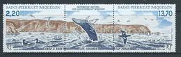 St Pierre & Miquelon 1988 Natural Heritage Ross Cove & Cape Perce Strip Of 2 + Label MNH - St.Pierre & Miquelon