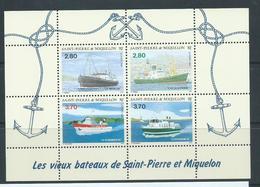 St Pierre & Miquelon 1994 Ships Miniature Sheet MNH - Unused Stamps