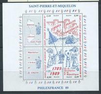 St Pierre & Miquelon 1989 French Revolution Anniversary Miniature Sheet MNH - St.Pierre & Miquelon