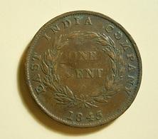 Straits Settlements 1 Cent 1845 - Monedas
