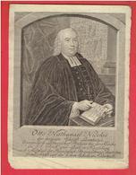 GRAVURE XVIII E OTTO NATHANAEL NICOLAI THEOLOGIEN PROTESTANT ALLEMAND PASTEUR LUTHERIEN 1710 KOSSELN 1788 ALLEMAGNE - Estampes & Gravures