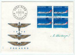 Suisse // Schweiz // Switzerland //  Poste Aérienne  // Aviation // Pro-Aéro Lettre 1er Jour - Other Documents