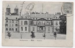(RECTO / VERSO) METZ EN 1906 - PRESIDENCE - PLI ANGLE BAS A DROITE - CPA VOYAGEE - Metz
