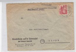LANDPOST Schmiedel über Simmern (Hunsrück) 1.8.47 Vom Kinderheim Auf´m Schmiedel / Knitter - French Zone