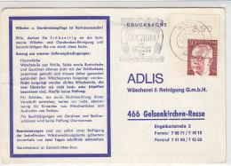 Vordruckkarte über Rechnung Mit ER Marke Aus BOCHUM 7.12.73 / Postautomatisation - Briefe U. Dokumente