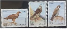 Algeria 2010 MNH Complete Set 3v. - Raptors Birds - Eagles & Falcons - Algeria (1962-...)