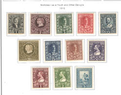 Montenegro PO 1910 Prince Nicholas I° Scott.87/98+ See Scan On Scott.Pages - Montenegro
