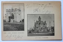Fort Garry Gateway & City Hall, Winnipeg, Canada, 1905 - Winnipeg