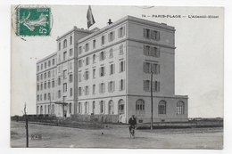 LE TOUQUET PARIS PLAGE - N° 74 - L' ATLANTIC HOTEL AVEC PERSONNAGE A VELO - BEAU CACHET - CPA VOYAGEE - Le Touquet