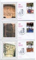 France-FDC-2010( 6 Env.)-ADH Yt 455 à 466- L'art Roman - FDC