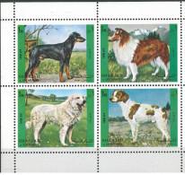 Tir SHARJAH 1972 Mi 1292-1295 MNH - Dogs - Hunde -  Complete Set In One Block/4 - Sharjah
