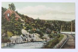 Lake View Railroad Chamcook Lake, St Andrews, N.B. New Brunswick, Canada - New Brunswick