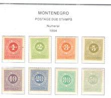 Montenegro Postage 1894 Numerals  Scott.J 1/8+ See Scan On Scott.Pages - Montenegro