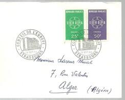 STRASBOURG 1959 - Marcofilia (sobres)