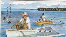 POLYNESIE FRANCAISE..60 UNITES..LA PECHE DE LAGON - French Polynesia