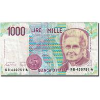 Billet, Italie, 1000 Lire, 1990-1994, 1990, KM:114a, TB+ - [ 2] 1946-… : République