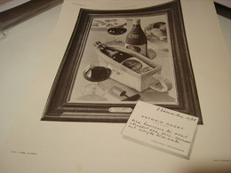 ANCIENNE PUBLICITE VIN BOURGOGNE ANTONIN RODET  1938 - Alcoholes