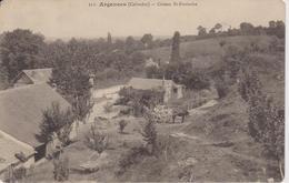 CALVADOS - 322 - ARGENCES - Côteau St Eustache ( - Petite Animation Avec Tombereau - écrite En 1918 - France