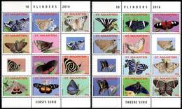 ARUBA Sint Maarten Saint Martin 357/66 Et Suivants , Papillons , 1er Et 2éme Séries - Vlinders