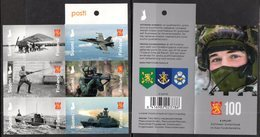FINLAND, 2018, MNH, FINLAND DEFENCE FORCES, SHIPS, PLANES, MILITARY, SOLDIERS, WEAPONS, BOOKLET - Militaria