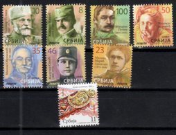 SERBIA, 2018, MNH,  DEFINITIVES, HEROES, CRAFTS, WWI WAR HEROES, PHYSICISTS, MATHEMATICIANS, PRINCES, 8v - Famous People
