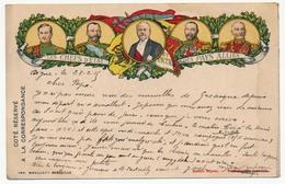 """CP De Franchise Militaire, édition Privée, """"Les Chefs D'Etat Des Pays Alliés"""" Depuis Digne - 1915 - Postmark Collection (Covers)"""