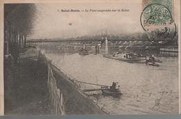 CPA 93 SAINT-DENIS Le Pont Suspendu Sur La Seine - Année 1903 - Saint Denis