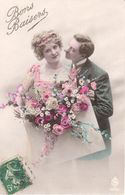 Thèmes - CPA - Bons Baisers - Fantaisie - Couple - Couples