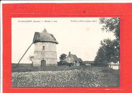 80 FLIXECOURT Cpa Moulin A Vent        Edit Vve Leclerc - Flixecourt