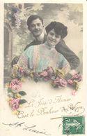 Thèmes - CPA - La Foie D'Aimer C'est Le Bonheur De Vivre - Fantaisie - Couple - Couples