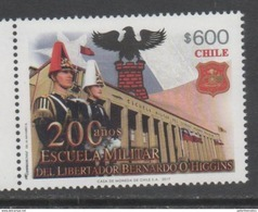 CHILE, 2017, MNH,MILITARY, MILITARY SCHOOL, ACADEMY, SOLDIERS, ARCHITECTURE, COAT OF ARMS,  1v - Militaria