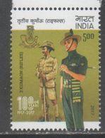 INDIA , 2017, MNH,MILITARY, SOLDIERS,   3 KUMAON, RIFLES,    1v - Militaria