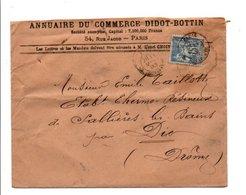 SAGE SUR LETTRE A EN TETE DE PARIS RUE BONAPARTE DU 11/3/1893 - Marcofilia (sobres)