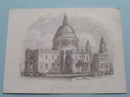 St. PAUL's CATHEDRAL By J. T. WOOD ( Porcelein / Porcelaine / Porcelain - Details See Photo ) - Non Classés