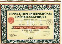 75-CONSORTIUM INTERNATIONAL CINEMATOGRAPHIQUE. Action DECO - Aandelen