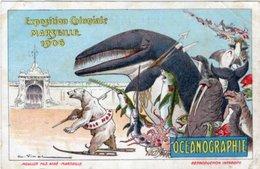 13 //MARSEILLE// EXPOSITION COLONIALE 1906 - OCEANOGRAPHIE - ILLUSTRATION A VIMAR - Kolonialausstellungen 1906 - 1922