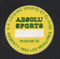 ABSOLU SPORTS REBERTY 1850 LES MENUIRES - AUTOCOLLANT REF: 075 - Stickers