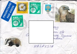 22D: Estonia Hawk, Eagle, Flower, Emblem Stamps Used On Cover - Estonia