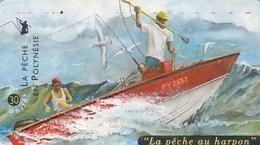 """POLYNESIE FRANCAISE...30 UNITES....""""LA PECHE AU HARPON"""".. - French Polynesia"""