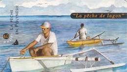 """POLYNESIE FRANCAISE...60 UNITES....""""LA PECHE DE LAGON"""".. - French Polynesia"""