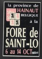 FOIRE DE SAINT LO LA PROVINCE DE HAINAUT BELGIQUE - AUTOCOLLANT REF: 080 - Stickers