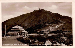Schneekoppe Mit Schlesierhaus Und Riesenbaude - Riesengebirge (8) * 11. 8. 1927 - Polen
