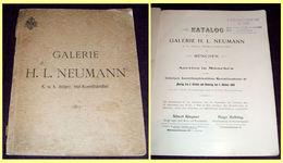 1898 Neumann Art Galery Auction Catalog / Munich, Paintings, Fire Guns, Antiques - Catalogues
