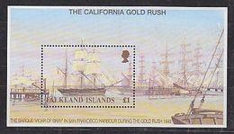 Falkland Islands 1999 The California Gold Rush M/s ** Mnh (39631) - Falklandeilanden