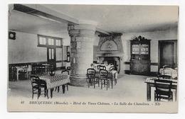 BRICQUEBEC - N° 48 - HOTEL DU VIEUX CHATEAU - LA SALLE DES CHEVALIERS - CPA NON VOYAGEE - Bricquebec