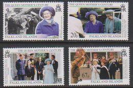 Falkland Islands 1999 Queen Mother's Century 4v ** Mnh (39632) - Falklandeilanden